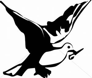 Black And White Dove Clipart - Clipart Suggest