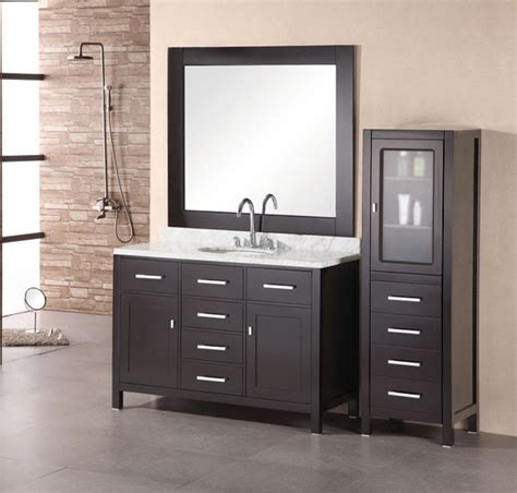 large modern single sink bathroom vanity  marble