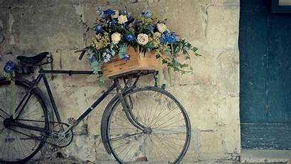 Desktop Wallpapers Retro Backgrounds Antique Bicycle Flowers