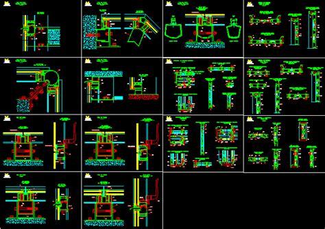 aluminium details door dwg detail  autocad designs cad