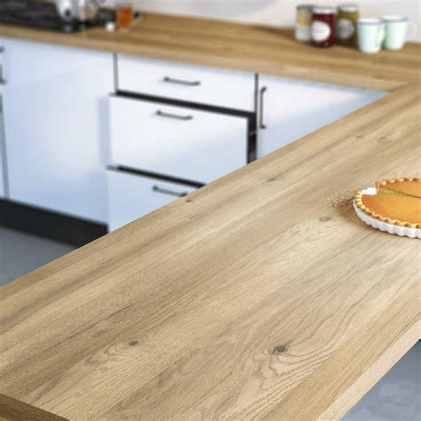 plan de travail table cuisine plan de travail stratifié effet chêne boréal mat l 300xp