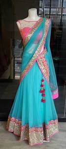 Dhoti Saree Design Cute Color Combination Half Saree Designs Half Saree
