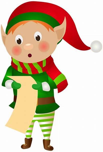 Elf Clip Santa Clipart Transparent Claus Buddy