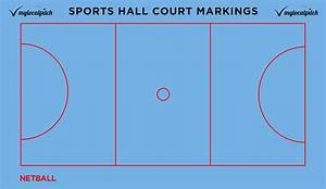 Sports Hall Court Markings  Line Colour Guide