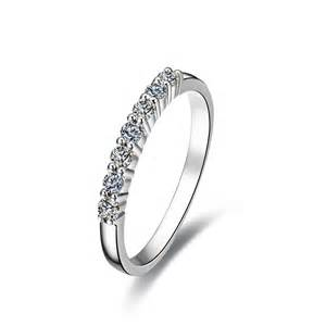 silver wedding band womens sterling silver wholesale 7stone 925 ring for wedding band quality synthetic