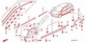 Molding  Side Sill Garnish For Honda Cars Civic 1 8 Exi 5