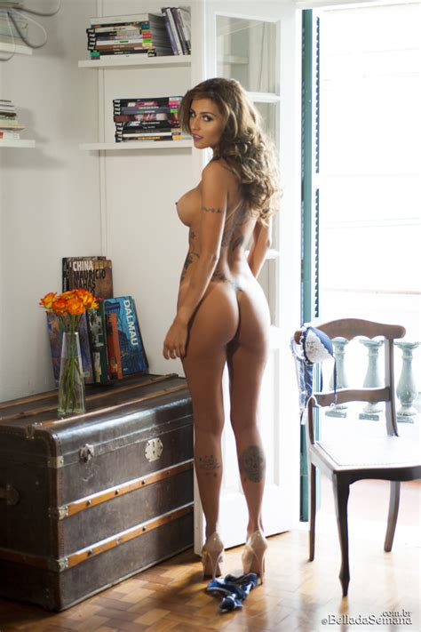 Brazilian Babe Junia Cabral Naked From The Rear Nudeshots