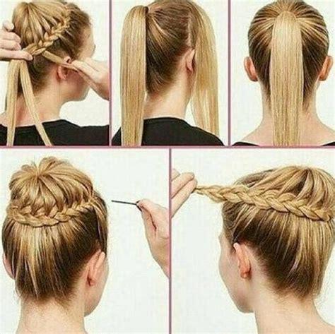 comment faire un chignon comment faire un chignon avec des tresses coiffure en image