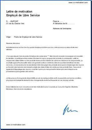 lettre de motivation employé de bureau exemple de lettre de motivation employé de libre service