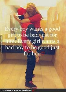 bad boy, good girl! this just really sums it up! | Swag ...