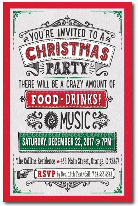 vintage holiday party invitations di 10202 custom