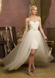 Honey buy short front long back wedding dresses for Short to long wedding dresses