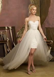 honey buy short front long back wedding dresses With short long wedding dresses