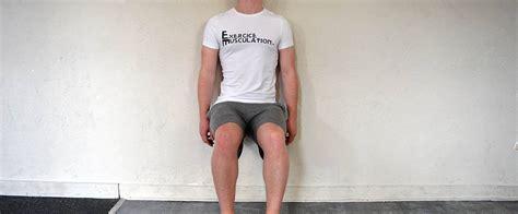 test de la chaise exercice de la chaise gainage fitness heroes