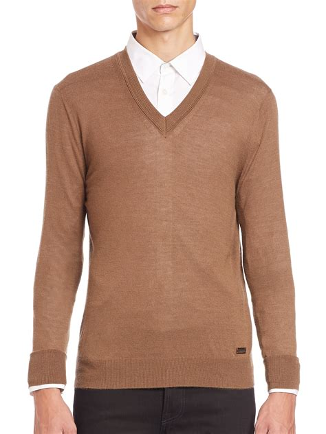 mens burberry sweater burberry regal v neck brown sweater in brown for