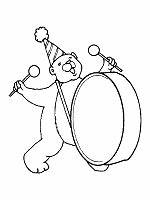 drum coloring pages to print - musical instruments coloring pages and printable activities