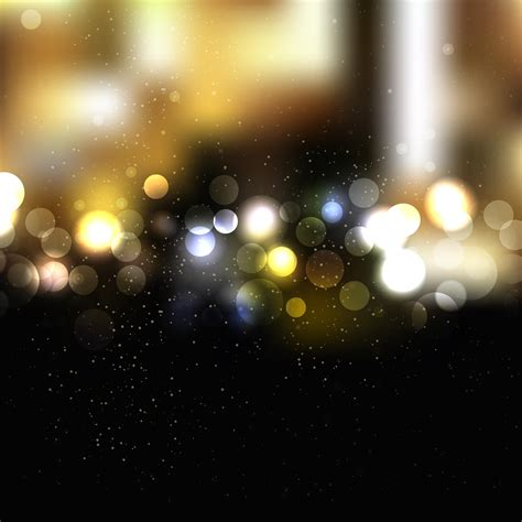 Backgrounds With Lights by Black Gold Bokeh Lights Background