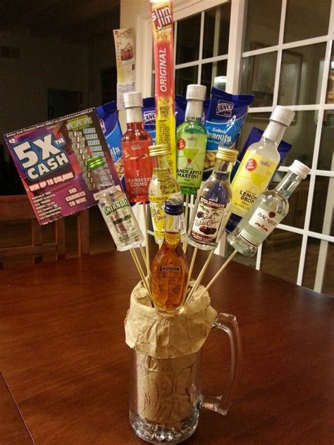liquor gift for office i made this mini gift for my office fundraiser acute myeloid leukemia i made this