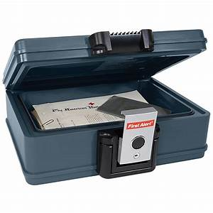 First alert fireproof waterproof chest document storage for Safe document storage