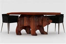Cool Tables by Unique Table With Bear Shaped Base Bear Table Home Building Furniture A