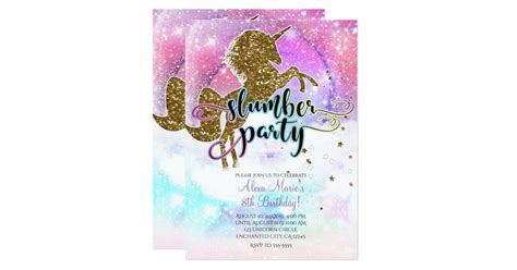 pink galaxy magical unicorn sparkle slumber party
