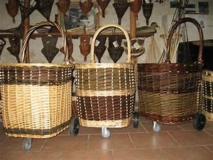 Chariot Buches Bois Roulettes : panier a bois en osier rectangulaire ovales ou arrondi ~ Dailycaller-alerts.com Idées de Décoration