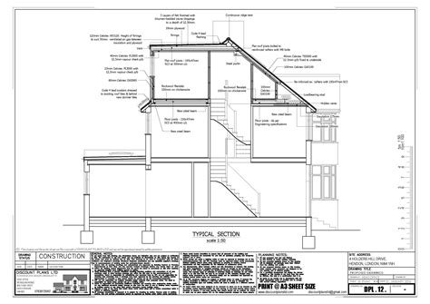 drawings  plans  house extension  loft