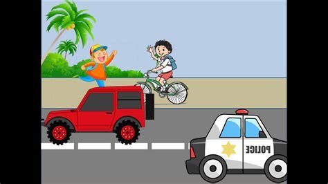 gambar suasana jalan raya kartun bestkartun