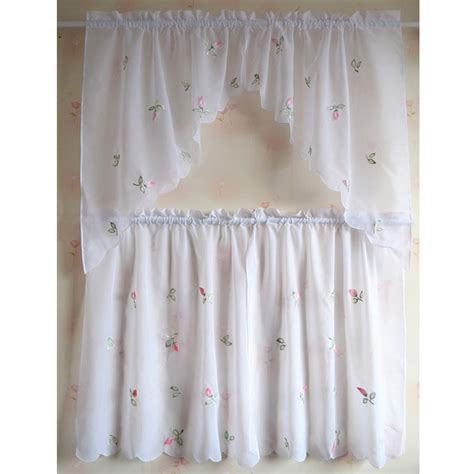 lovely design kitchen curtains sheer cafe rural style