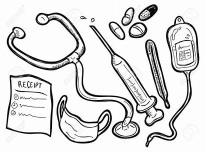 Medical Equipment Clipart Doctor Tools Coloring Doodle