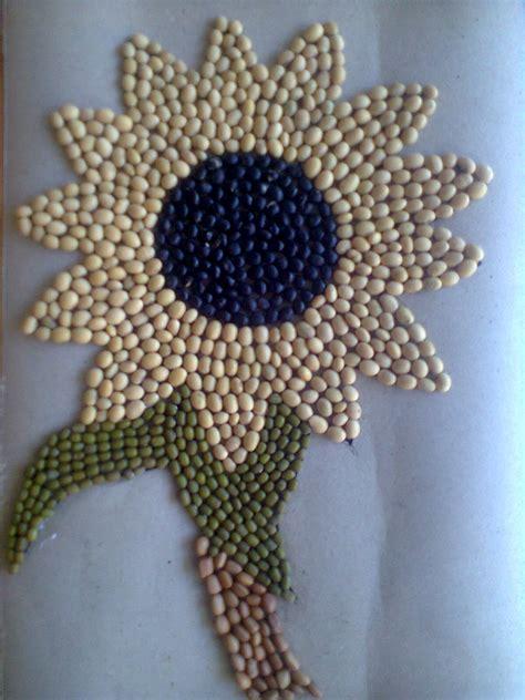 kolase bunga biji bijian