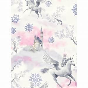 Fairytale Unicorn Wallpaper - Lilac - Arthouse 667801