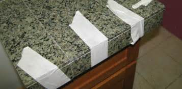 how to install a granite tile countertop