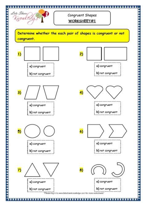 all worksheets 187 congruent shapes worksheets printable