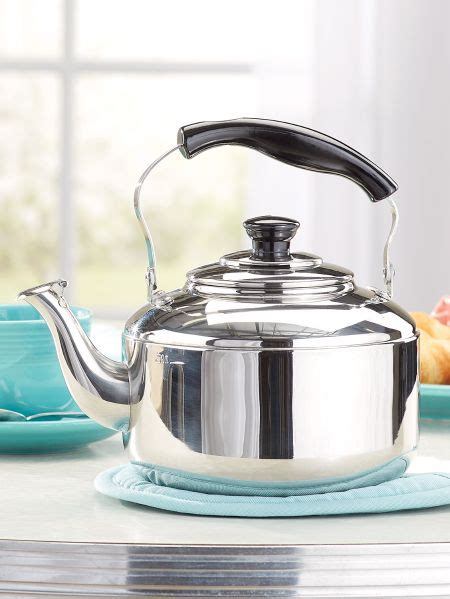 country kitchen kettle knapp monarch stainless steel tea kettle 2826