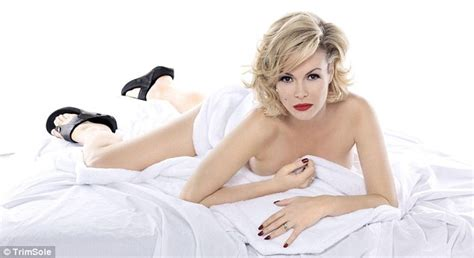 Amanda Holden Poses Nude Marilyn Monroe-style For New Shoe