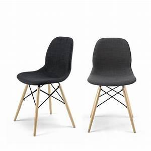 Chaise Design En Tissu Style Eames Pied DSW Doki Doki Soft