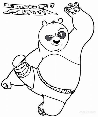 Panda Coloring Pages Fu Kung Printable