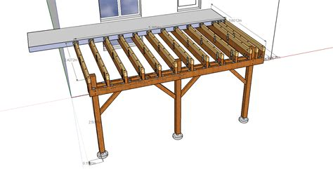 nivrem plan terrasse bois en hauteur diverses id 233 es de conception de patio en bois pour