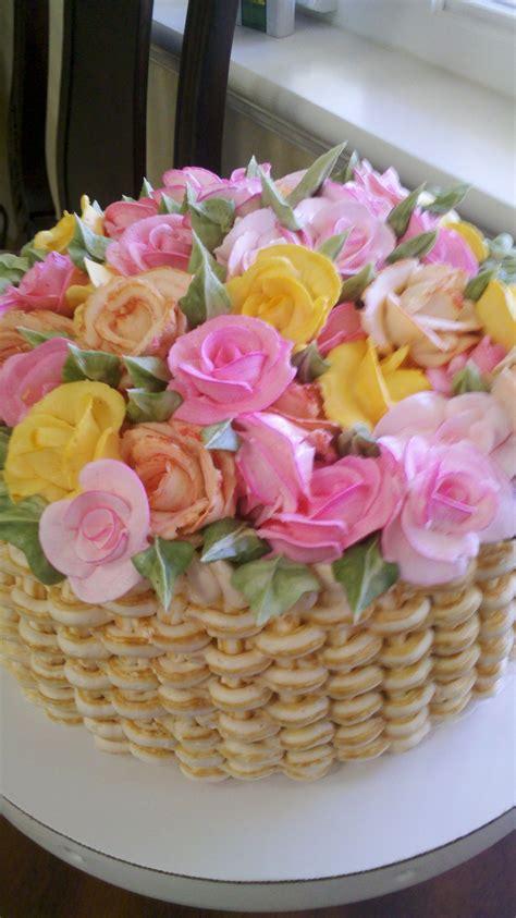 flower basket cake  images flower basket cake