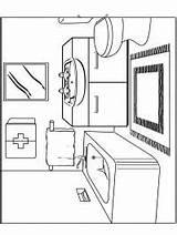Coloring Bunk Bed 1001coloring Bathroom sketch template