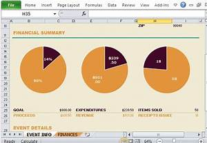 non profit fundraising report maker for excel With fundraising presentation template
