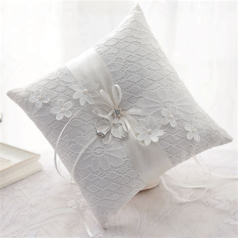 wedding ring pillows perth dita luxury ivory lace floral wedding ring pillow australia