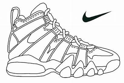 Coloring Pages Jordan Sneakers Shoes Printable Getcolorings