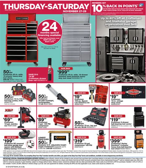black friday tool cabinet deals sears craftsman black friday 2014 tool deals