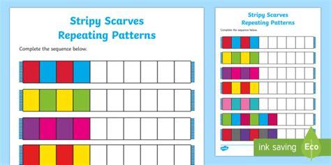 year 1 repeating patterns worksheet 623017 worksheets