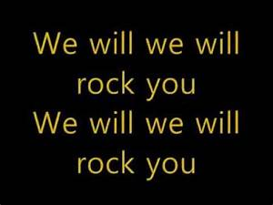 Queen We Will Rock You Lyrics | ♫♫ LIFE IS A SONG. LOVE IS ...