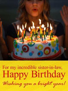 birthday cards  sister  law images