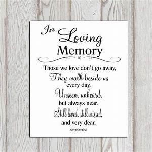 Wedding memorial table in loving memory printable memorial idealpin for In loving memory free printable