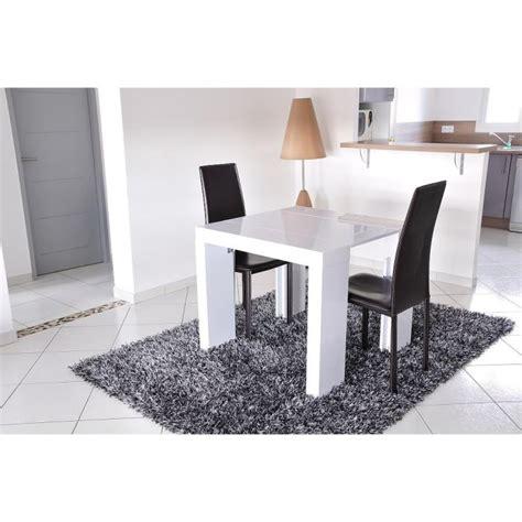 zack console extensible 250cm laqu 233 blanc achat vente table salle a manger pas cher couleur